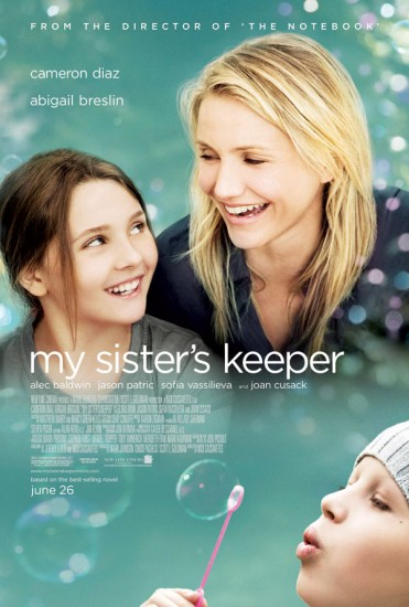 My Sister's Keeper, movie review. Not bad, really not bad.