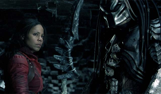 Sanaa Laathan in Alien vs Predator.  I would totally have her babies.  Yes you heard that right.
