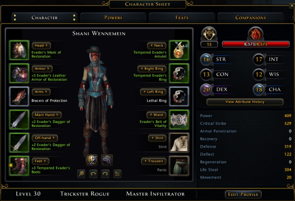 I'm just a little taken aback by all of the huge stats for a rogue.