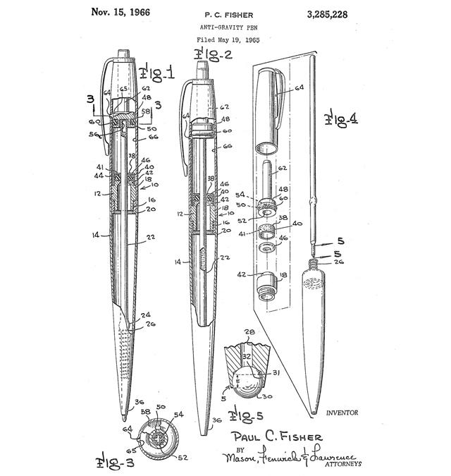 Plans for the anti-gravity pen.