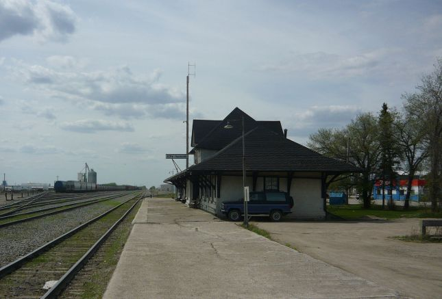The Humboldt railway station (located in Humboldt, Saskatchewan) was built by the Canadian Northern Railway along the Winnipeg to Edmonton mainline. The 1 1⁄2-story, wood-frame, railway station was completed in 1905. The last CNR passenger train (#9 and #10) ended service in 1963 with service restored in 1978; Via Rail railliner served the station in 1980. The building was designated a historic railway station in 1992.
