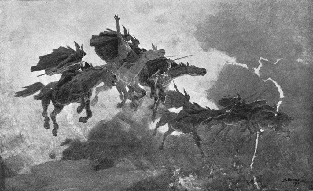 The Ride of the Valkyrs (1909) by John Charles Dollman