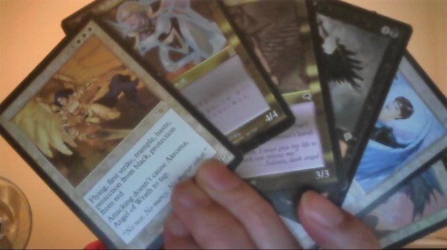 I have an angel deck from M:TG, which includes Akroma Angel.